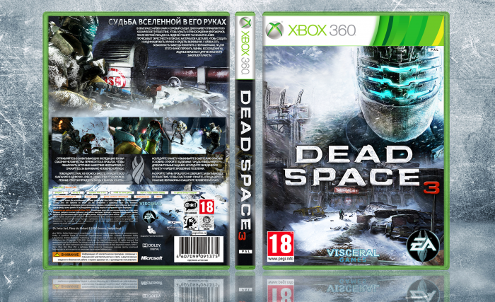 Dead Space 3 Xbox 360 Box Art Cover By Fergana16