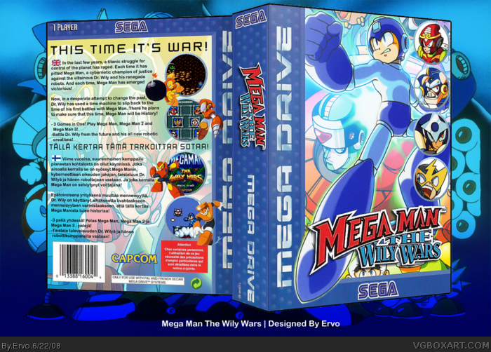 Mega Man The Wily Wars box art cover