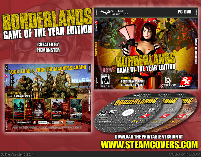 Borderlands Game of the Year Edition box art cover