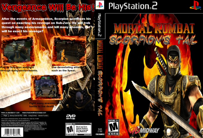 Mortal Kombat Scorpion's Tail PlayStation 2 Box Art Cover by