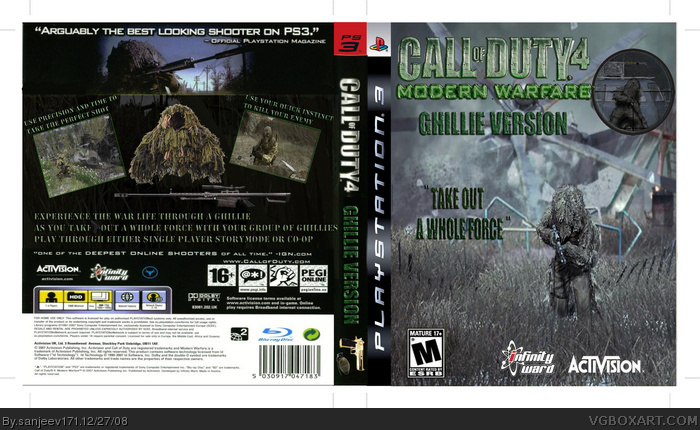 Call of Duty 4: Ghillie Version box art cover