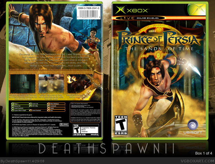 Prince of Persia : Sands of Time box art cover