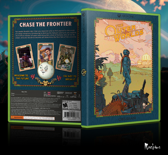The Outer Worlds box art cover